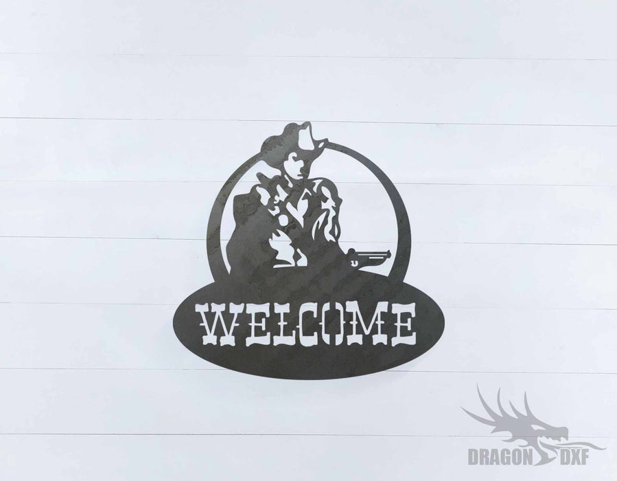 Welcome Sign 25 - DXF Download