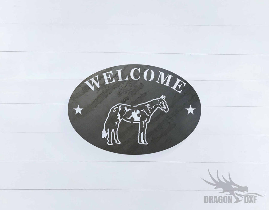 Welcome Sign 27 - DXF Download