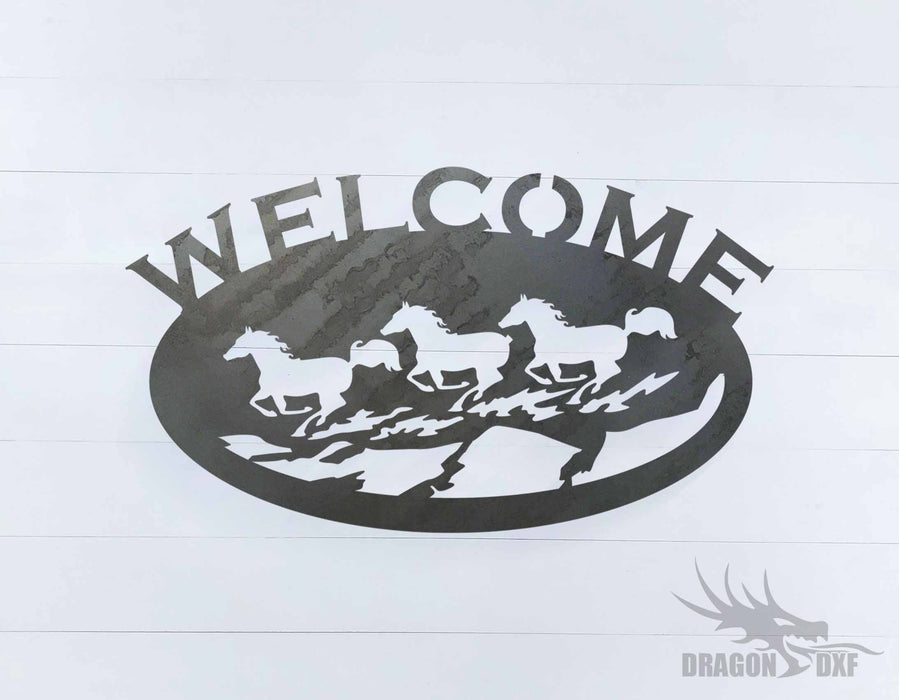 Welcome Sign 29 - DXF Download