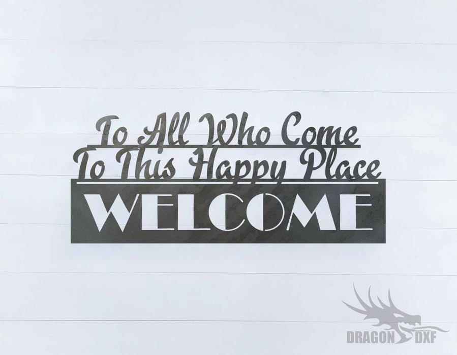 Welcome Sign 31 - DXF Download