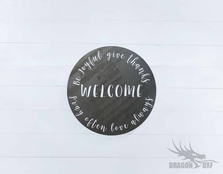 Welcome Sign 33 - DXF Download