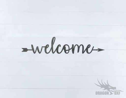 Welcome Sign 37 - DXF Download