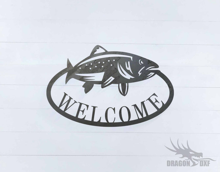 Welcome Sign 40 - DXF Download