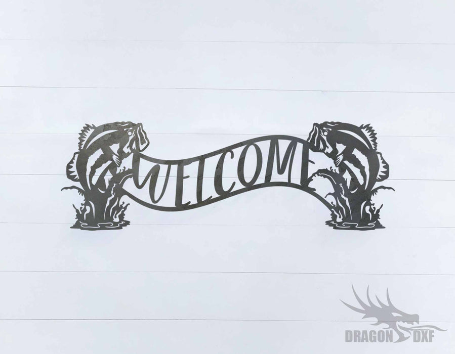 Welcome Sign 43 - DXF Download