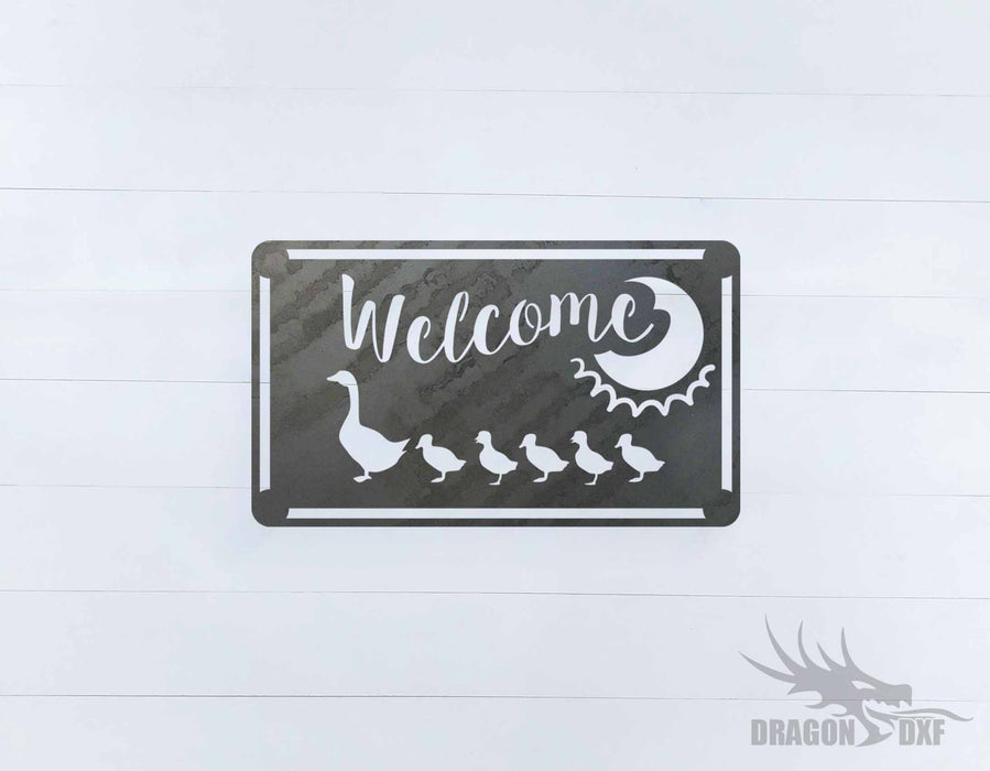Welcome Sign 44 - DXF Download