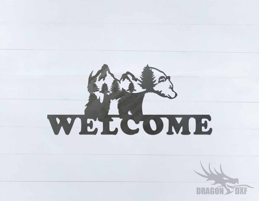 Welcome Sign 49 - DXF Download