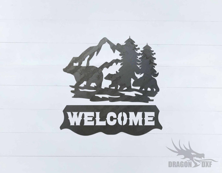 Welcome Sign 50 - DXF Download