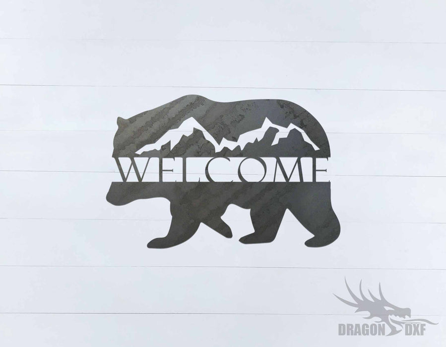 Welcome Sign 52 - DXF Download