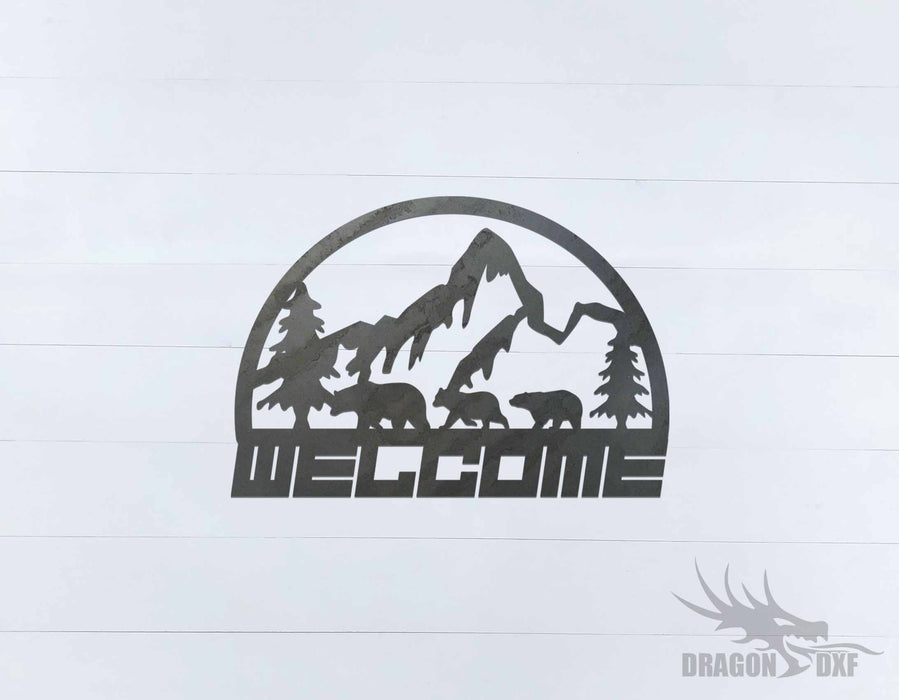 Welcome Sign 54 - DXF Download