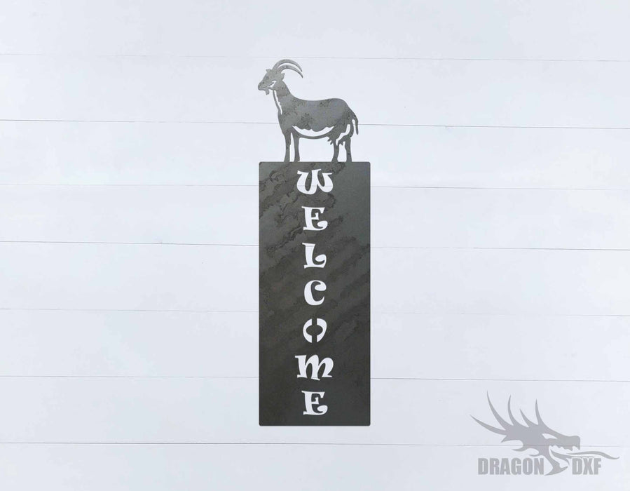 Welcome Sign 58 - DXF Download