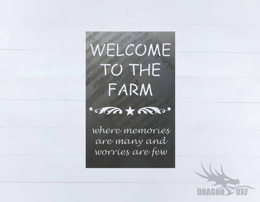 Welcome Sign 62 - DXF Download