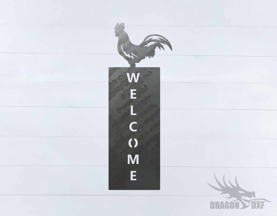 Welcome Sign 63 - DXF Download