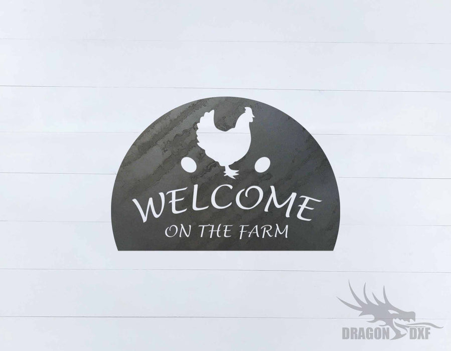 Welcome Sign 65 - DXF Download