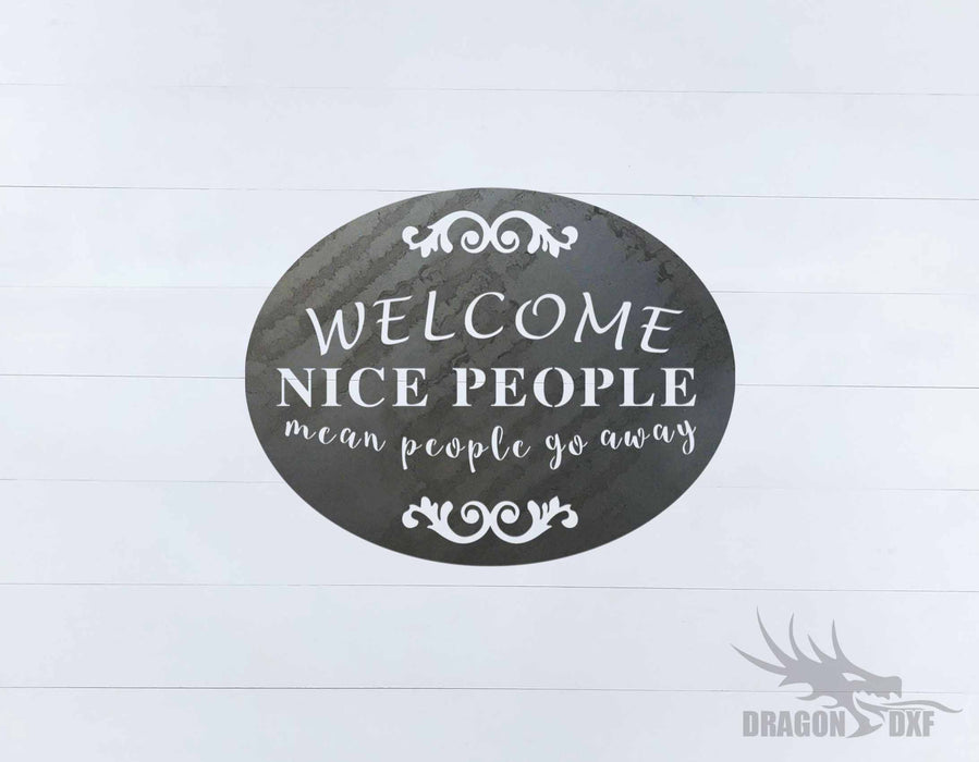 Welcome Sign 67 - DXF Download