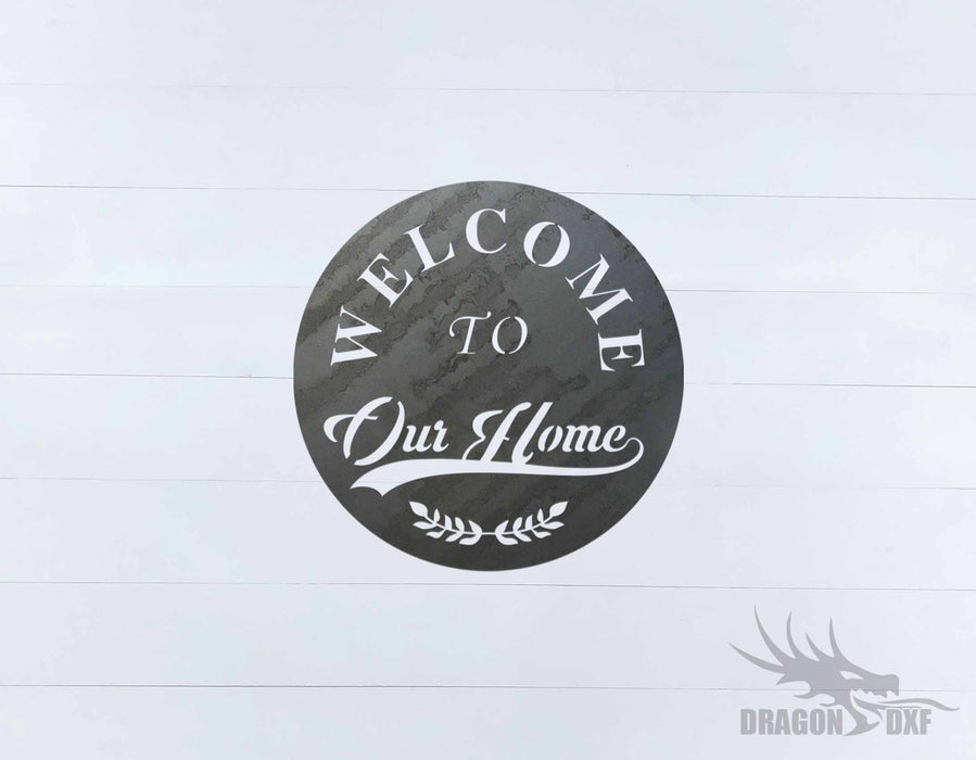 Welcome Sign 68 - DXF Download