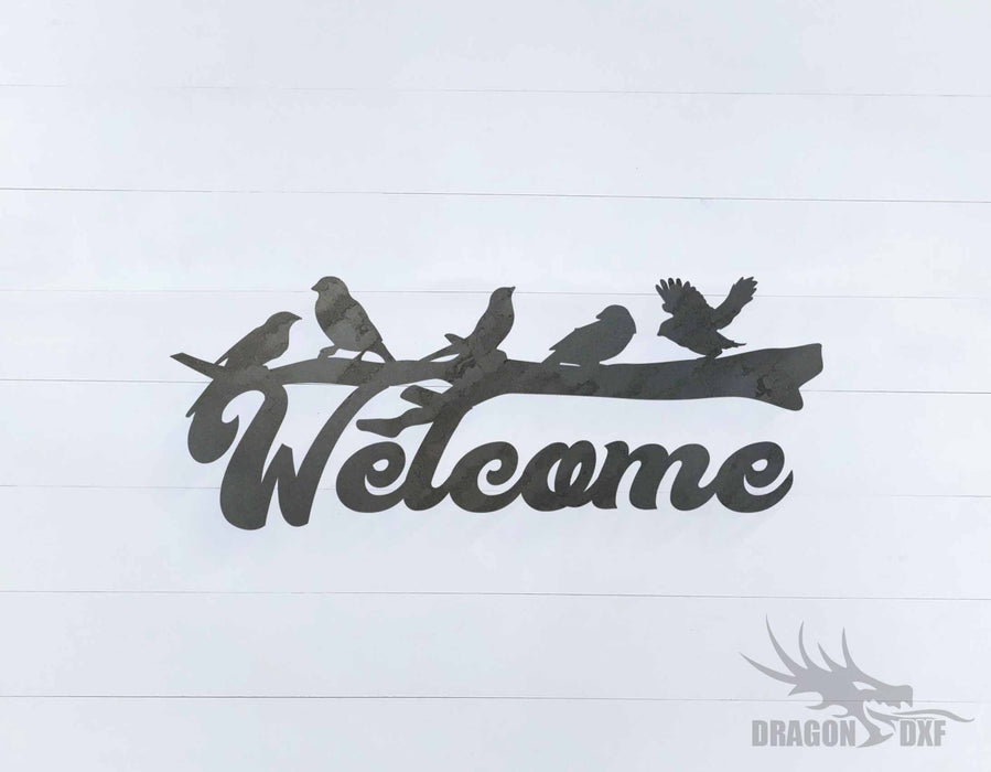 Welcome Sign 6 - DXF Download