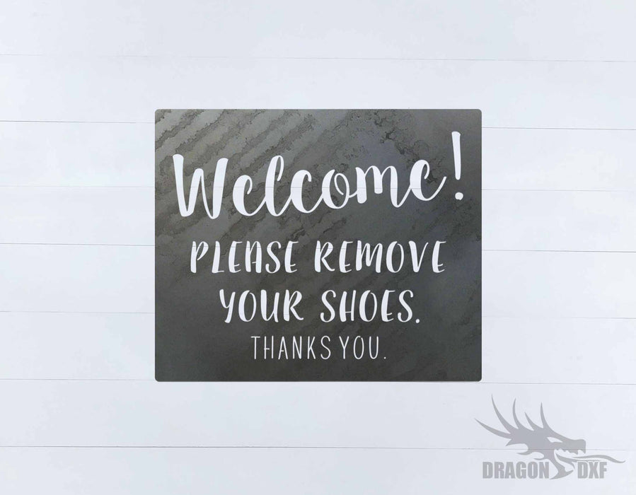 Welcome Sign 70 - DXF Download