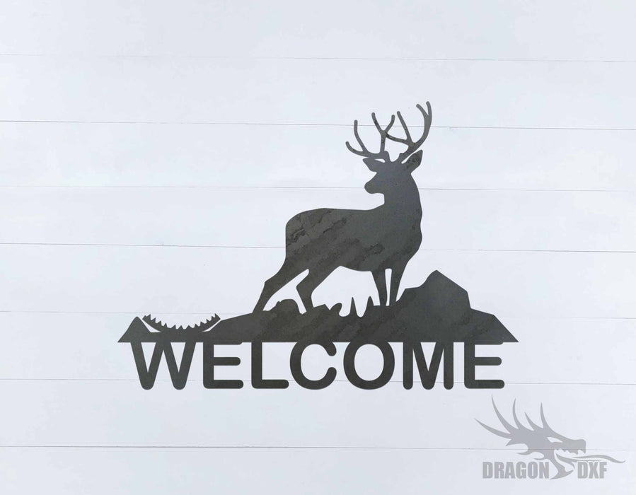 Welcome Sign 73 - DXF Download
