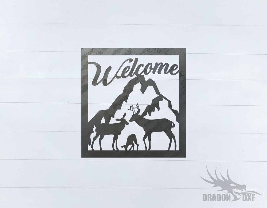 Welcome Sign 74 - DXF Download