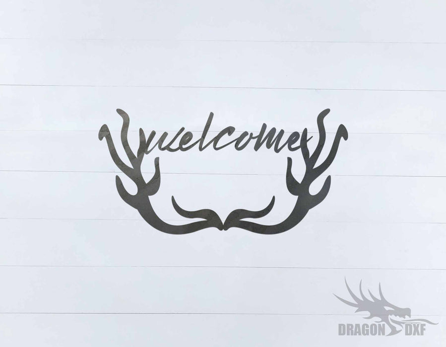 Welcome Sign 75 - DXF Download