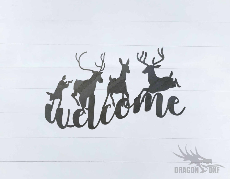Welcome Sign 77 - DXF Download