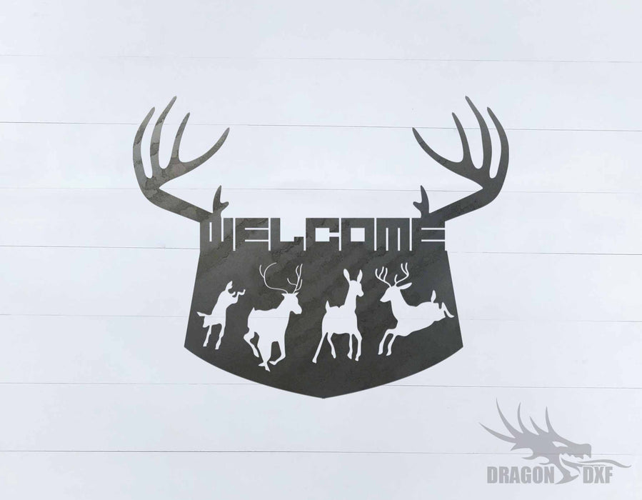 Welcome Sign 78 - DXF Download