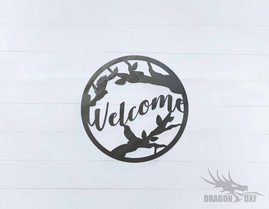 Welcome Sign 7 - DXF Download