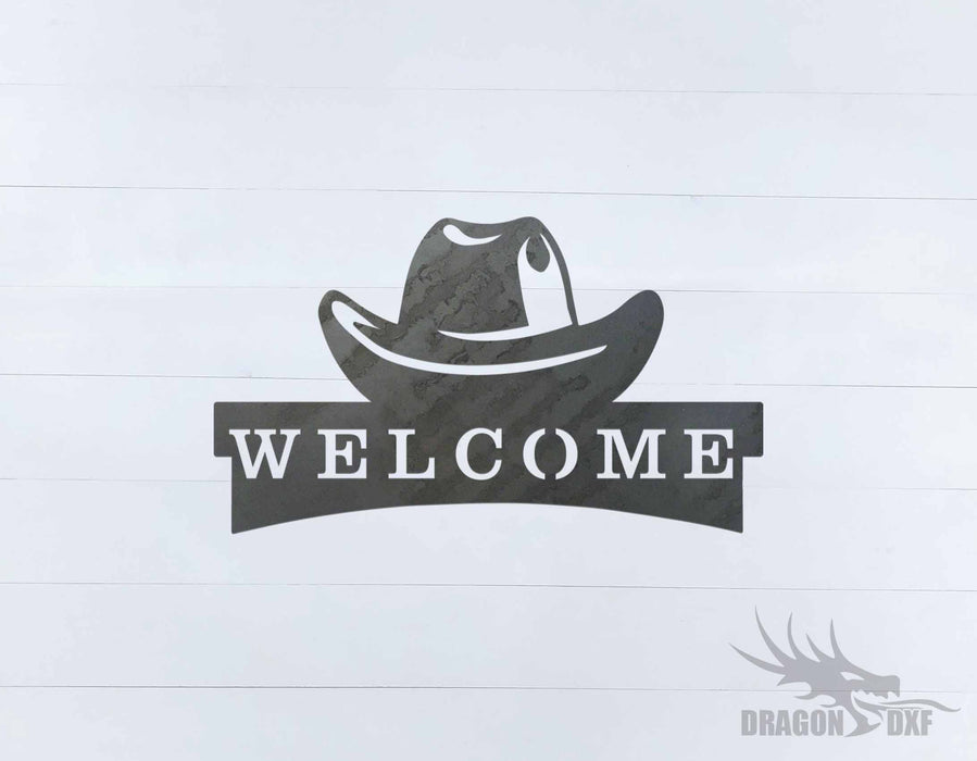 Welcome Sign 82 - DXF Download