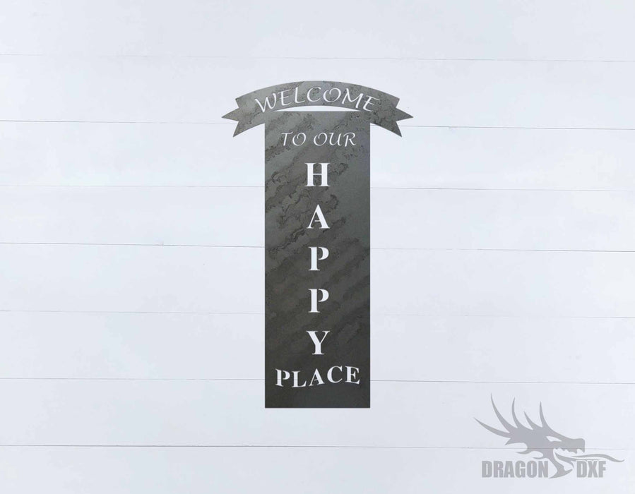 Welcome Sign 83 - DXF Download