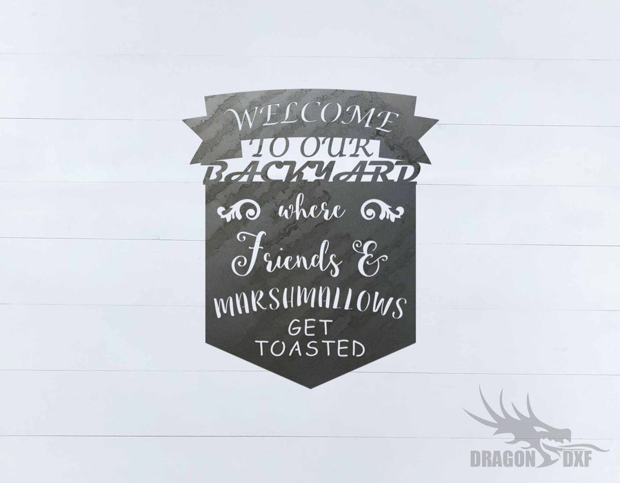 Welcome Sign 87 - DXF Download