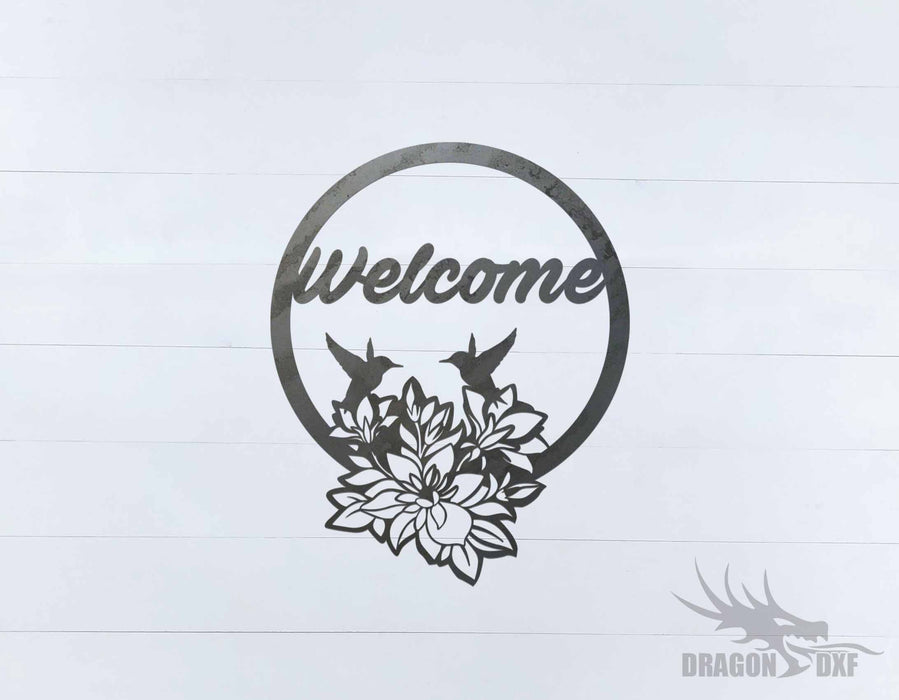 Welcome Sign 88 - DXF Download