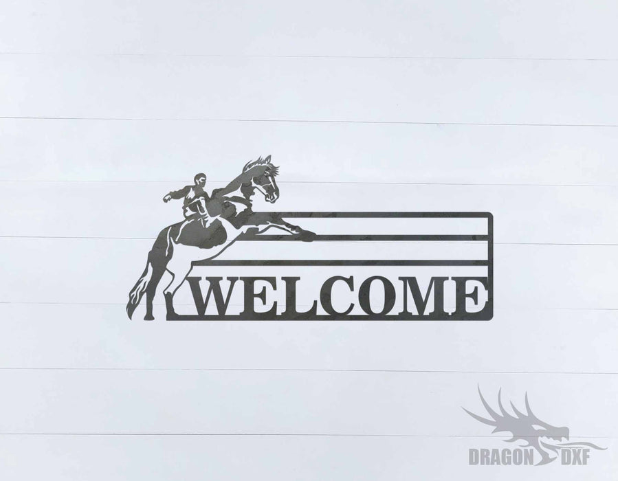 Welcome Sign 89 - DXF Download