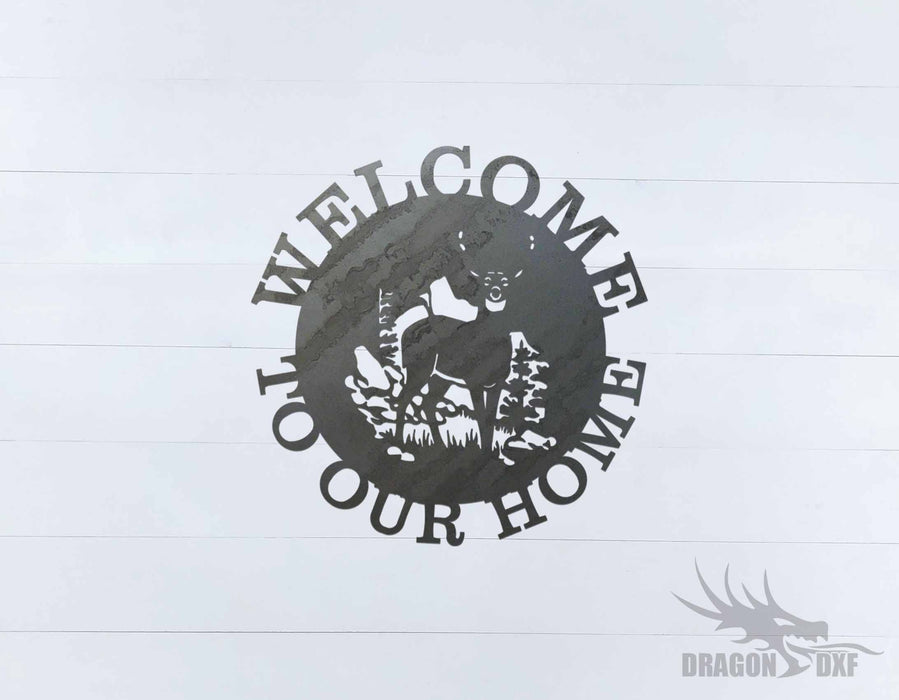 Welcome Sign 90 - DXF Download