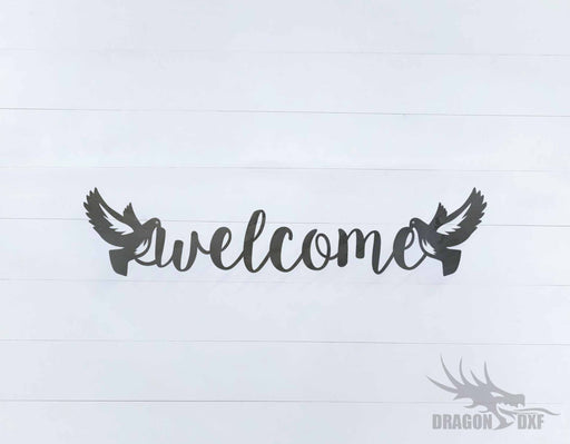 Welcome Sign 9 - DXF Download