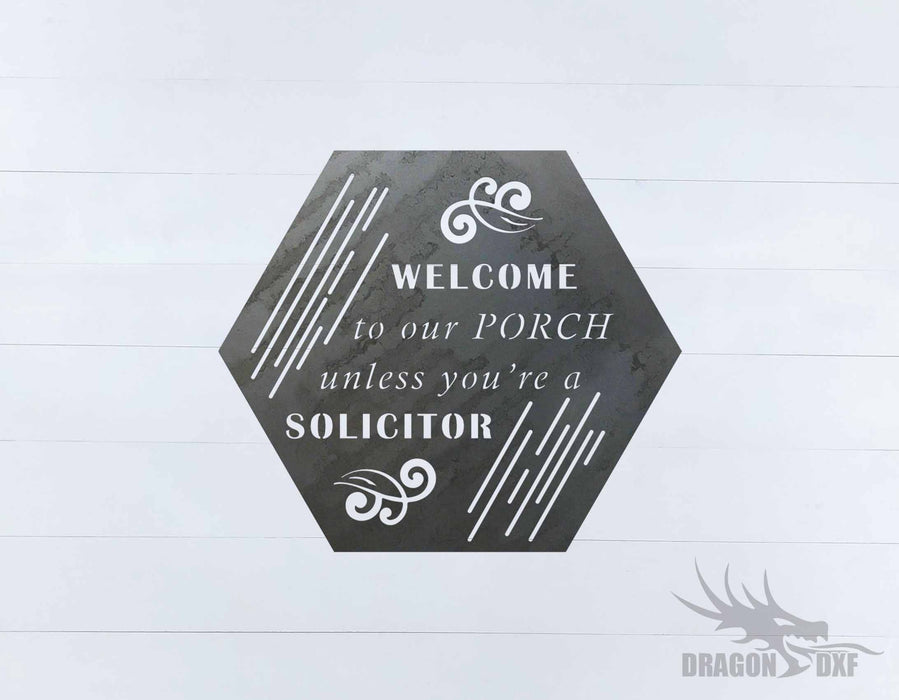 Welcome to our Porch sign 15 - DXF Download