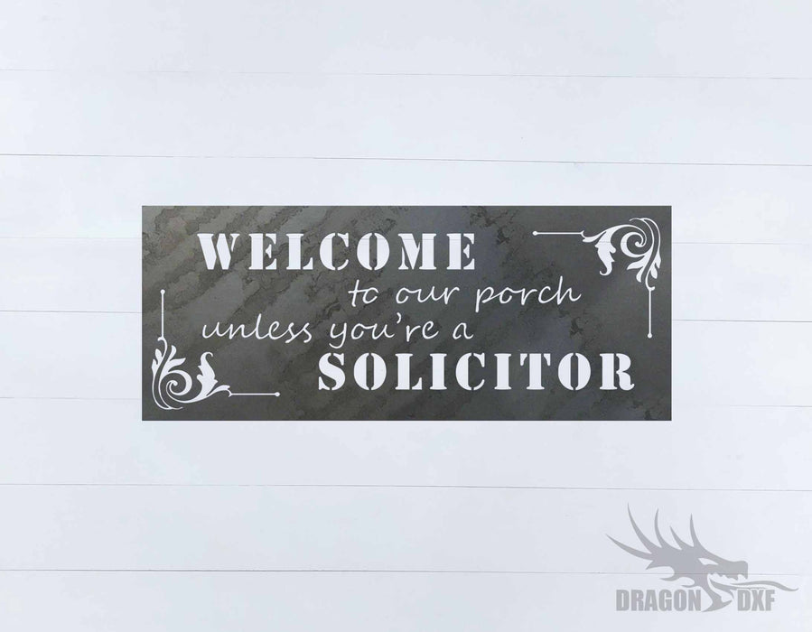 Welcome to our Porch sign 7 - DXF Download