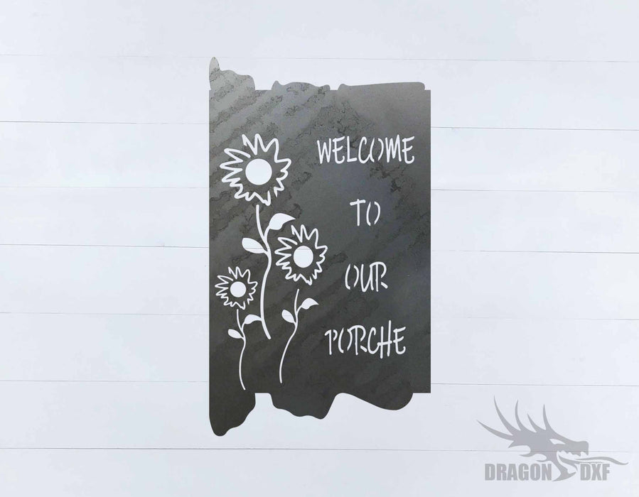 Welcome to our Porch sign 9 - DXF Download