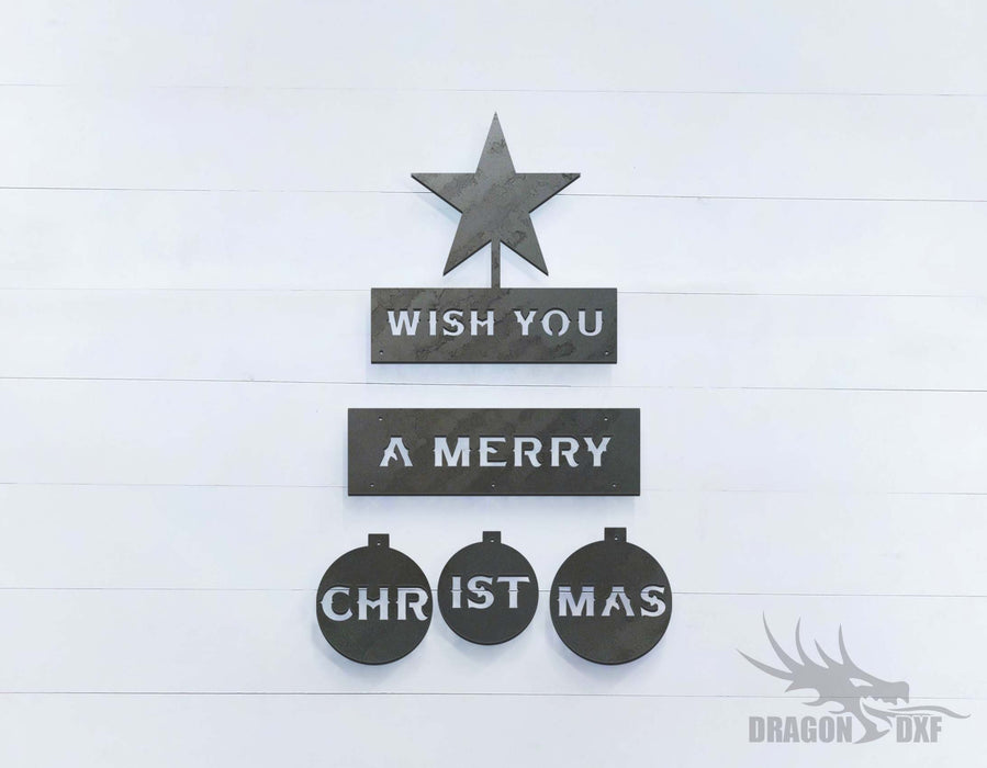Wish You a Merry Christmas - DXF Download