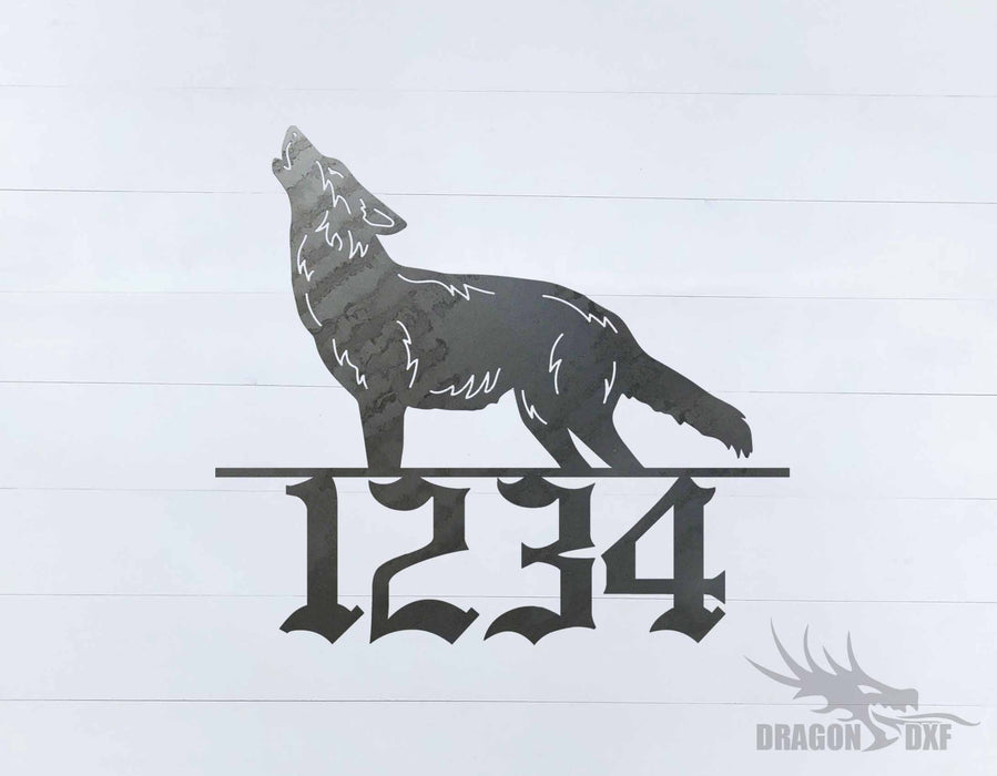 Wolf Home Number -  DXF Download