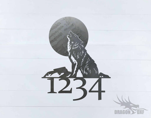 Wolf Home Number 2 -  DXF Download