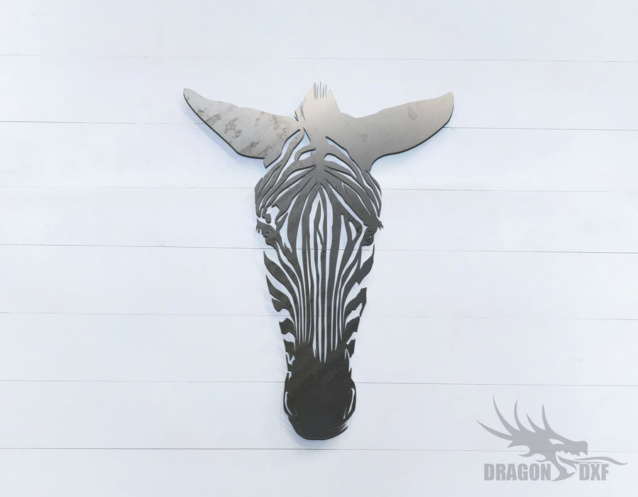 Zebra facing front - Zoo Animals -  DXF Download