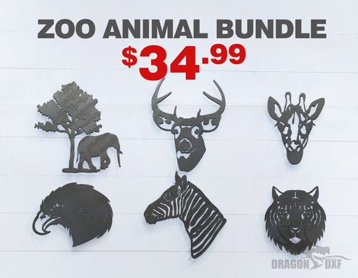 Zoo Animals Bundle - DXF Download