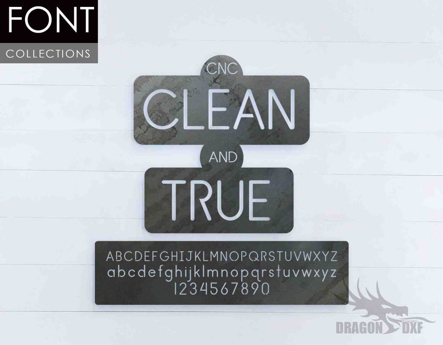 Clean and True CNC Font