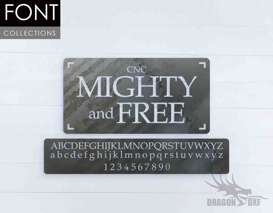 Mighty and Free CNC Font