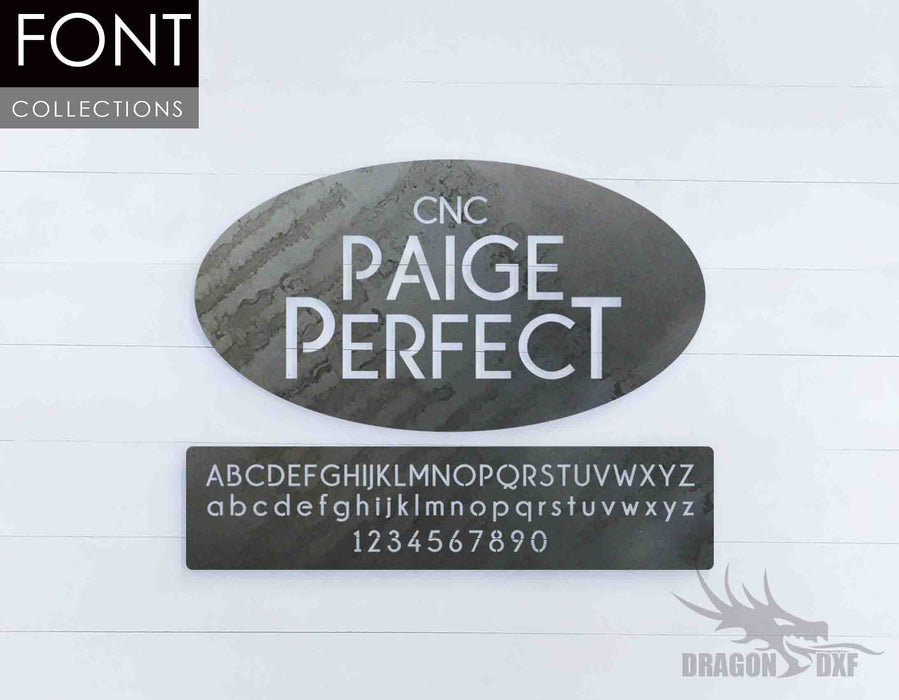 Paige Perfect CNC Font