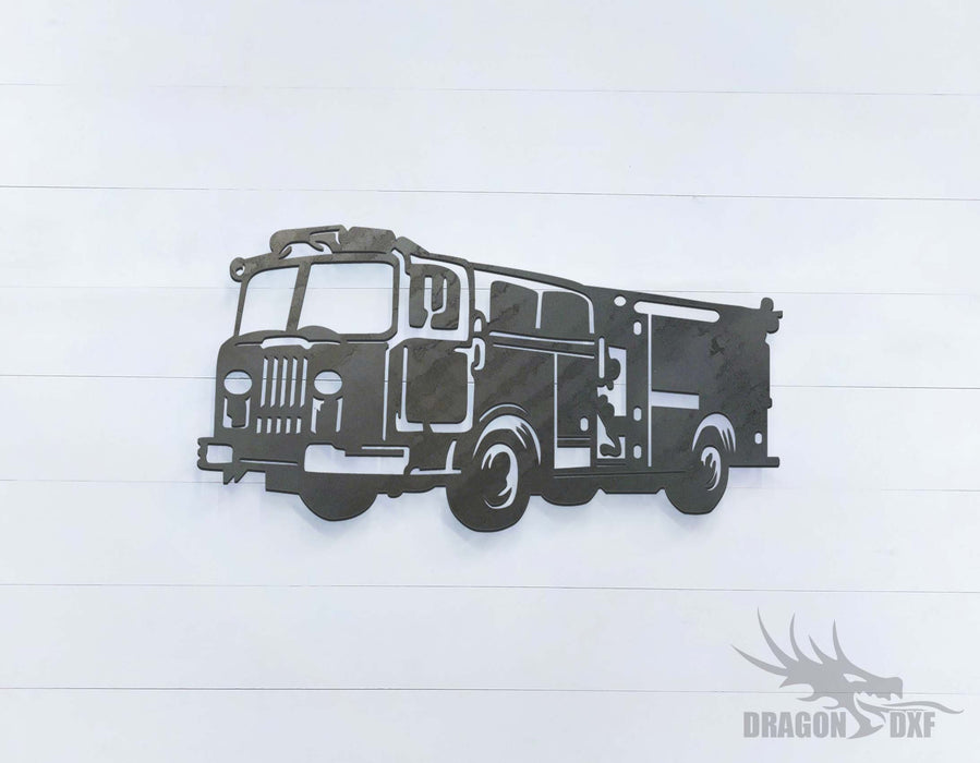 Fire Engine 2 Left View - DXF Download