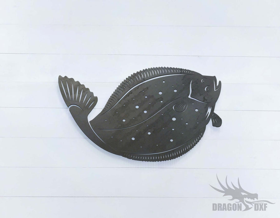 Halibut Fish - DXF Download