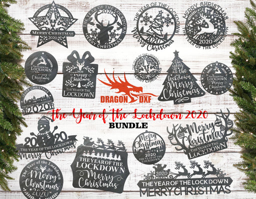 Christmas Bundle 3 - The Year of the Lockdown 2020 - DXF Download