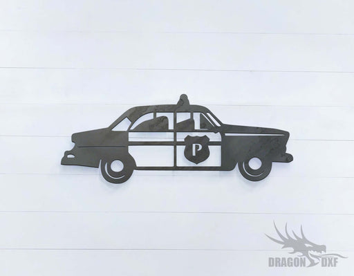 Police Car 2 Right View - DXF Download