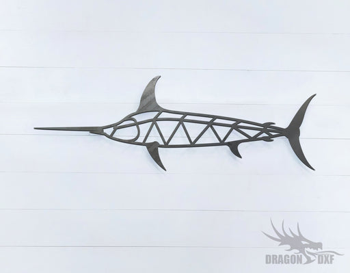 Swordfish - Geometric - Deco - Animals -  DXF Download